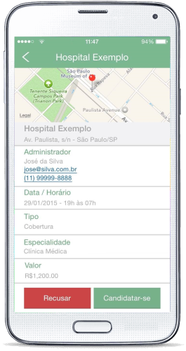 Faça o download gratuito do aplicativo DoctorID para Android e iPhone.